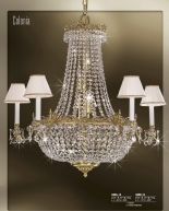 Riperlamp 049A 13.AA-AB-AE-AH-AM-AQ-AY-BG-BJ-BQ-CJ SWAROVSKI, CREAM SHADE