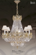 Riperlamp 051B 16.AA-AB-AE-AH-AM-AQ-AY-BG-BJ-BQ-CJ SWAROVSKI, CREAM SHADE