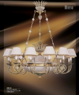 Riperlamp 274B 14.AA-AB-AE-AH-AM-AQ-AY-BG-BJ-BQ-CJ WHITE ALABASTER - CREAM SHADE