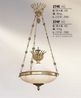 Riperlamp 274E 02.AA-AB-AE-AH-AM-AQ-AY-BG-BJ-BQ-CJ WHITE ALABASTER