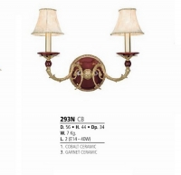 Riperlamp 293N 02.AA-AB-AE-AH-AM-AQ-AY-BG-BJ-BQ-CJ COBALT/GARNET CER.- ONLY CANDLE