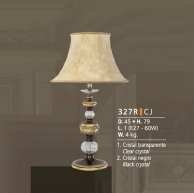 Riperlamp 327R 01.AM-AQ-AY-BG-BJ-BQ-CJ CLEAR GLASS-CREAM SHADE