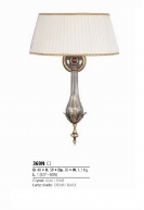 Riperlamp 369N 01.AA-AB-AE-AH-AM-AQ-AY-BG-BJ-BQ-CJ LILAC/FUME CRYSTAL, CREAM/BLACK SHADE