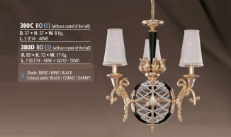 Riperlamp 380C 03.AA-AB-AE-AH-AM-AQ-AY-BG-BJ-BQ-CJ BEIGE/WINE/BLACK/SHADE